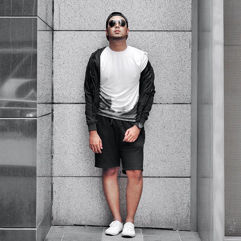Look deportivo total black chico